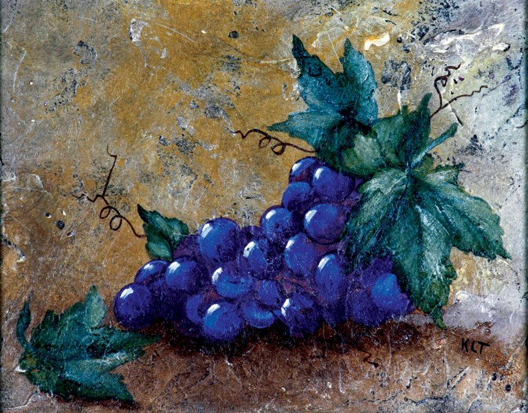 painting of grapes