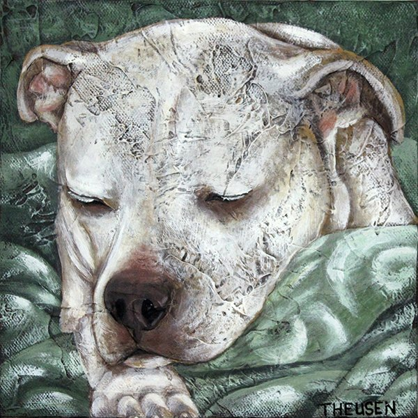 pet portrait of dog by karen theusen