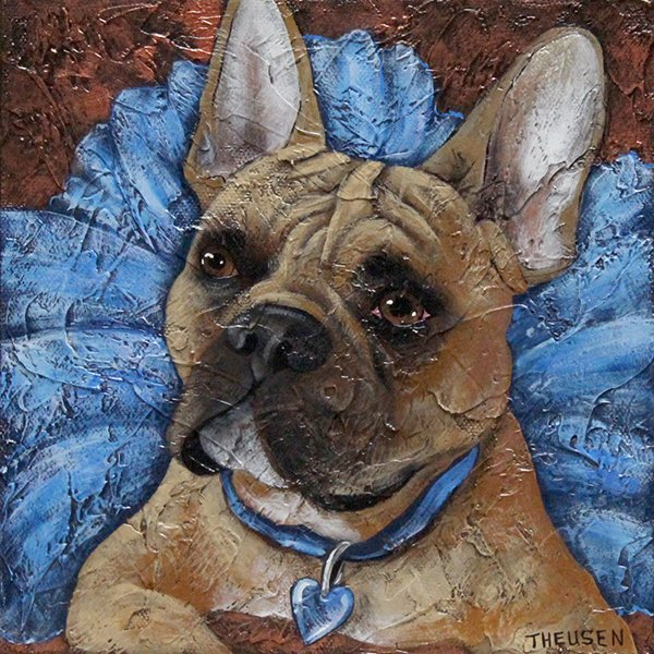 pet portrait of dog by karen theusen