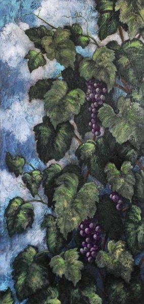 painting of grape vine
